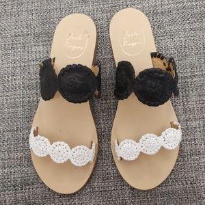 💗Jack Roger's Black and White Sandal